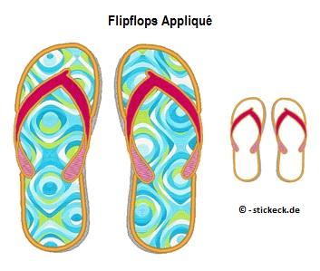 20170618 - Flipflops Applique - stickeck.de