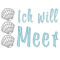 Freebie Stickdatei:	Ich will Meer
