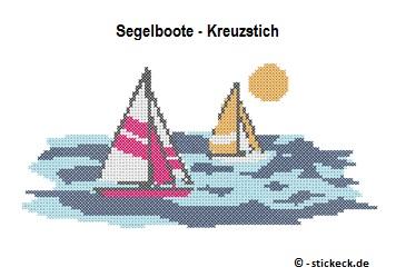 20170627 - Segelboote - Kreuzstich - stickeck.de