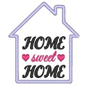 Freebie Stickdatei:	Home sweet Home