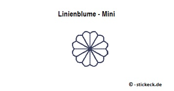 20170703 - Linienblume - Mini - stickeck.de