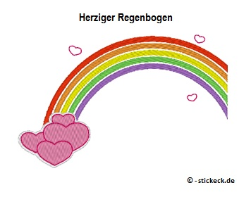 20170709 - Herziger Regenbogen - stickeck.de