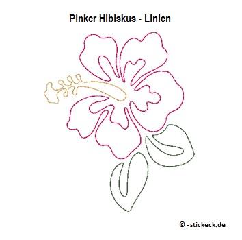 20170715 - Pinker Hibiskus - Linien - stickeck.de