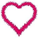 Kostenlose Stickdatei:Herz - Zufallssatinstich
