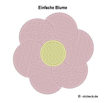 20170721 - Einfache Blume - stickeck.de