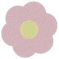 Freebie Stickdatei:Einfache Blume