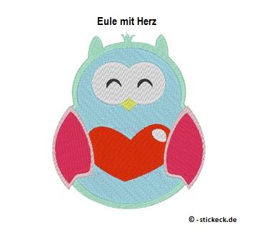20170724 - Eule mit Herz - stickeck.de