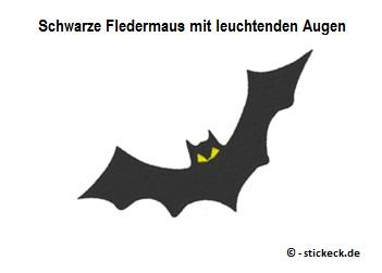 20170725 - Schwarze Fledermaus mit leuchtenden Augen - stickeck.de