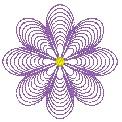 Freebie Stickdatei:Mittelgrosse Linienblume