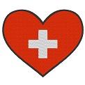 Freebie Stickdatei:Herzflagge Schweiz