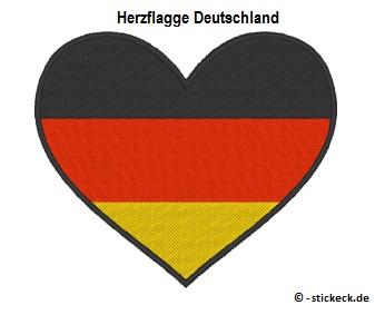 20170805 - Herzflagge Deutschland - stickeck.de