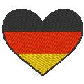 Gratis Stickdatei:Herzflagge Deutschland