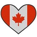 Kostenlose Stickdatei:Herzflagge Kanada