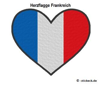 20170807 - Herzflagge Frankreich - stickeck.de