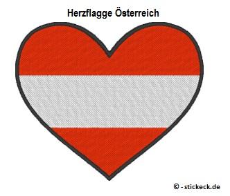 20170808 - Herzflagge Oesterreich - stickeck.de