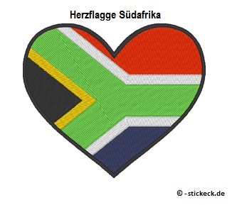20170811 - Herzflagge Suedafrika - stickeck.de