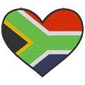Kostenlose Stickdatei:Herzflagge Südafrika
