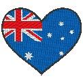 Gratis Stickdatei:Herzflagge Australien