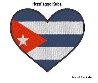 20170815 - Herzflagge Kuba - stickeck.de