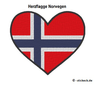 20170816 - Herzflagge Norwegen - stickeck.de
