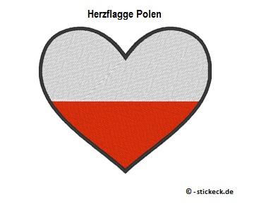 20170817 - Herzflagge Polen - stickeck.de