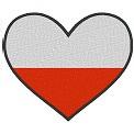Gratis Stickdatei:Herzflagge Polen