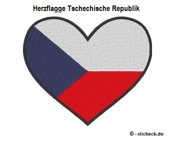 20170818 - Herzflagge Tschechische Republik - stickeck.de