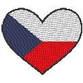 Freebie Stickdatei:Herzflagge Tschechische Republik