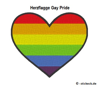 20170819 - Herzflagge Gay Pride - stickeck.de