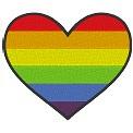 Kostenlose Stickdatei:Herzflagge Gay Pride