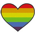 Freebie Stickdatei:Herzflagge Gay Pride