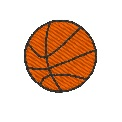 Gratis Stickdatei:	Basketball - Mini