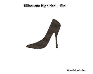 20170821 - Silhouette High Heel - Mini - stickeck.de
