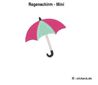 20170823 - Regenschirm - Mini - stickeck.de