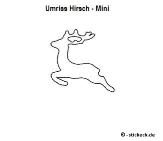 20170825 - Umriss Hirsch - Mini - stickeck.de
