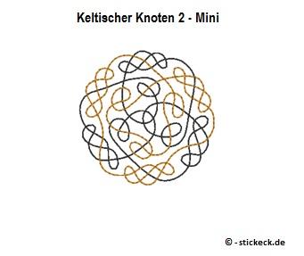 20170828 -Keltischer Knoten 2 - Mini - stickeck.de