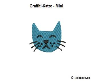 20170908 - Graffiti-Katze - Mini - stickeck.de