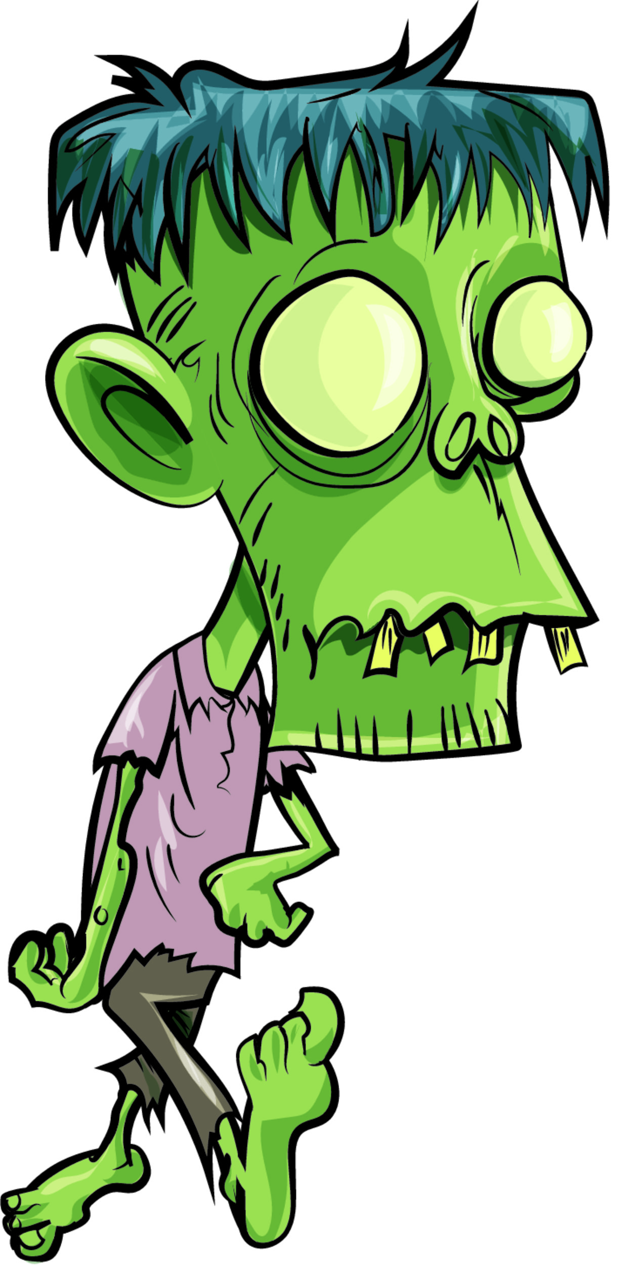 "Free vector ""Zombie with big head"""