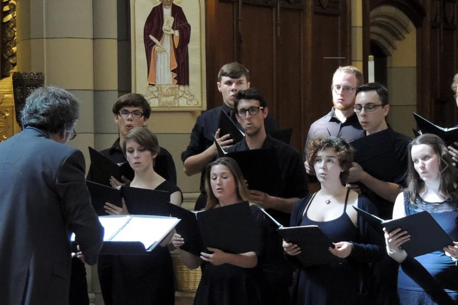 A group of choral singers.