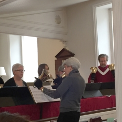 Bell ringers play a song