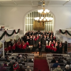 The multi-generational Berkshire Lyric Chorus fills the sanctuary of the Stockbridge Congregational Church