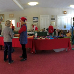 A room full of Christmas crafts waits for shoppers