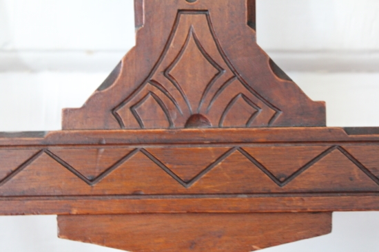 Detail of wood carving on a chair