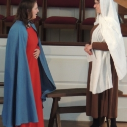 Mary and Elizabeth visit with one another