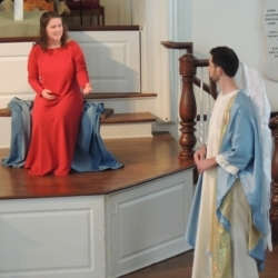 Gabriel tells Mary that she will bear the son of God