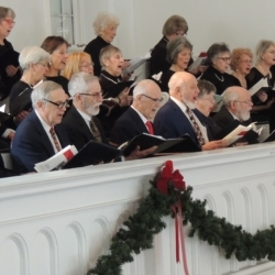 The choir sings a movement from Ralph Vaughan Williams' The First Nowell