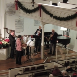 The Berkshire Brass quintet plays Christmas music