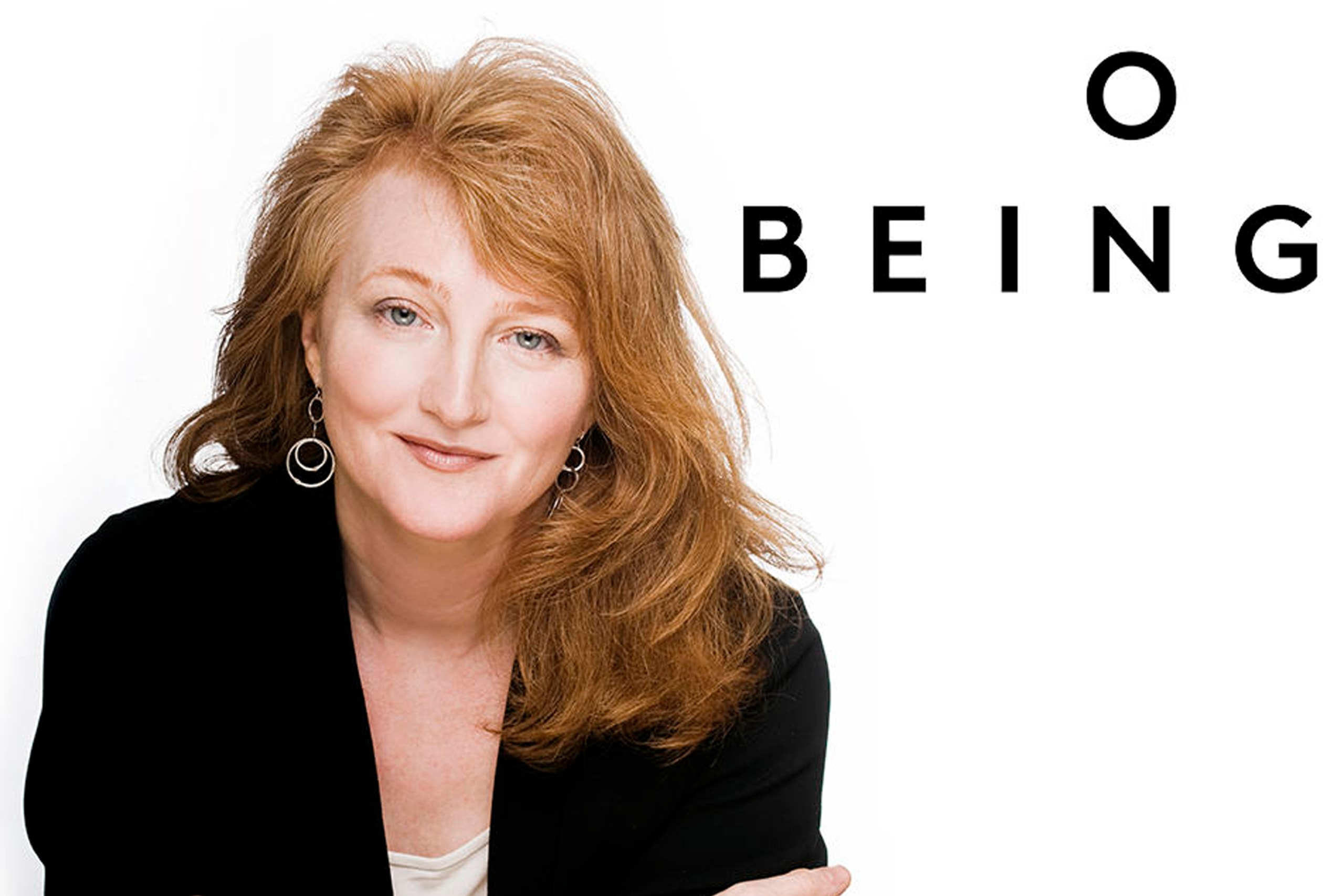 "Image of Krista Tippett with the words ""On Being"""