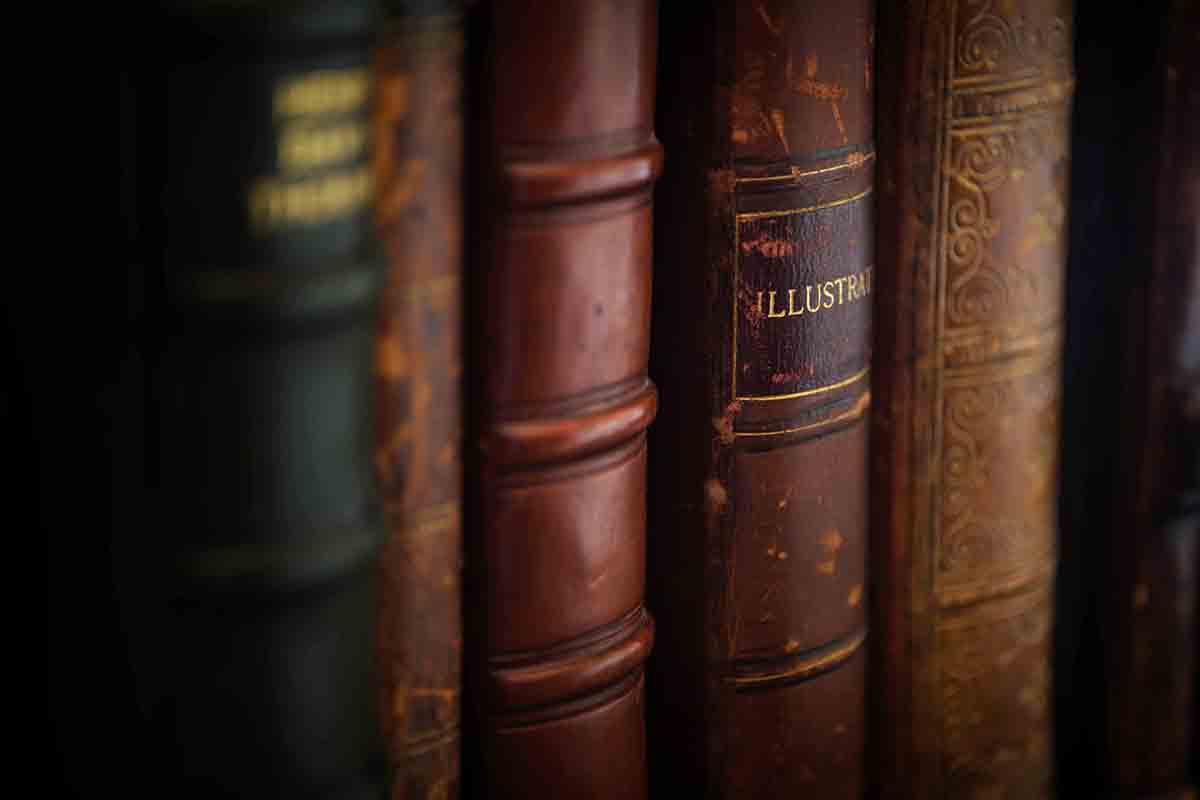 Free stock photo Full frame shot of hardcover books