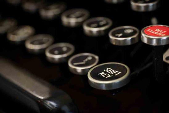 Free stock photo Close-up of shift key on typewriter